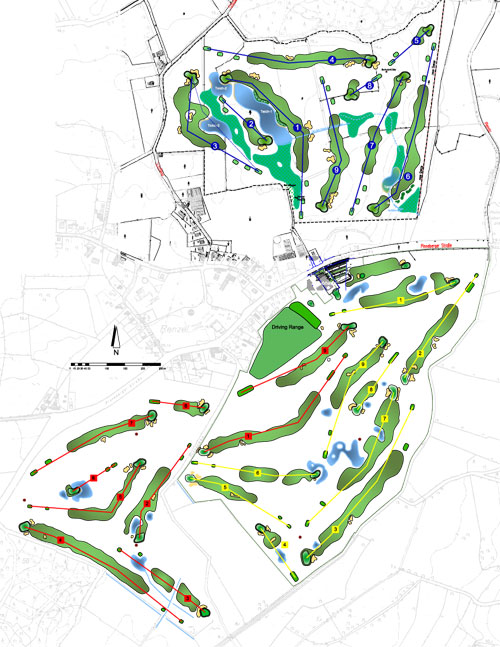 Platzlayout Golf-Club An der Pinnau e.V.